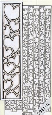 Stickers Bordüren / Linien - silber, silber,  Muster - Linien,  Art - Stickers,  Jahreszeit - Everyday,  Herzen