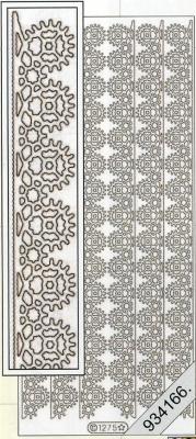 1 Stickers - 10 x 23 cm  - silber, silber,  Art - Stickers,  Jahreszeit - Everyday,  Ornamente,  Rand