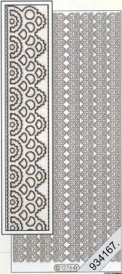 Stickers Rahmen,Kante-2- silber - silber