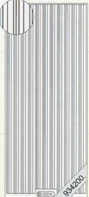 Stickers 1004 - Rand gerade - silber, silber,  Art - Stickers,  1004 - Rand gerade