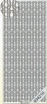 Stickers Bordüren / Linien - silber, silber,  Art - Stickers,  Jahreszeit - Everyday,  Rand