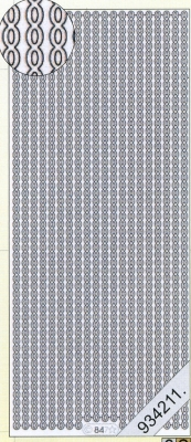 Stickers Rand oval silber - silber, silber,  silber,  Art - Stickers