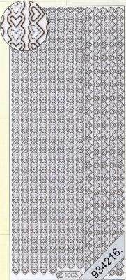 1 Stickers - 10 x 23 cm  - weiß, weiß,  Art - Stickers,  Jahreszeit - Everyday,  Rand,  Herz