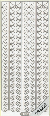 1 Stickers - 10 x 23 cm  - weiß, weiß,  Muster - Ränder,  Art - Stickers,  Jahreszeit - Everyday,  Rand