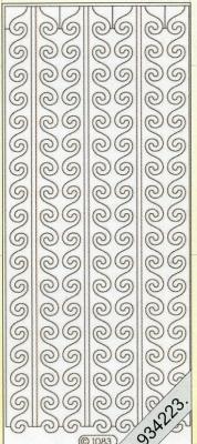 1 Stickers - 10 x 23 cm  - silber, silber,  Muster - Ränder,  Art - Stickers,  Jahreszeit - Everyday,  Rand