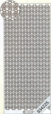 1 Stickers - 10 x 23 cm 1138 - Krause Linien - schwarz, schwarz,  Muster - Ränder,  Art - Stickers,  Jahreszeit - Everyday,  Rand