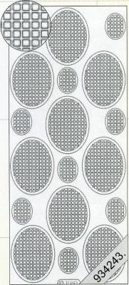 1 Stickers - 10 x 23 cm  - weiß, weiß,  Art - Stickers,  Muster