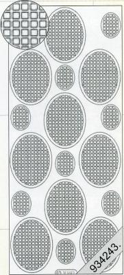 Stickers Vierecke in Oval schwarz - schwarz, schwarz,  schwarz,  Art - Stickers