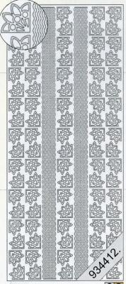 Starform, silber,  Muster - Ecken,  Art - Stickers,  Jahreszeit - Everyday,  Ecken,  Linien