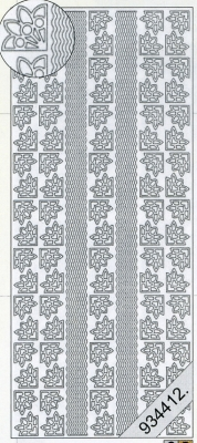 Stickers Bordüren / Linien - gold, gold,  Muster - Ecken,  Art - Stickers,  Ecken