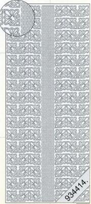 Stickers Bordüren / Linien - silber, silber,  Muster - Ecken,  Art - Stickers,  Jahreszeit - Everyday,  Ecken