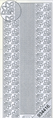 Stickers / Ecken, silber,  Muster - Ecken,  Muster - Ränder,  Jahreszeit - Everyday,  Ecken,  Rand