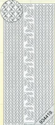 1 Stickers - 10 x 23 cm 1060 - Rand - weiß, weiß,  Muster - Ränder,  Art - Stickers,  Jahreszeit - Everyday,  Rand