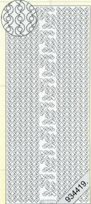1 Stickers - 10 x 23 cm 1060 - Rand - schwarz, schwarz,  Muster - Ränder,  Art - Stickers,  Jahreszeit - Everyday,  Rand