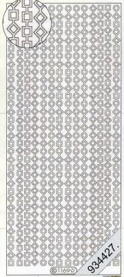 1 Stickers - 10 x 23 cm 1169 - silber, silber,  Art - Stickers,  Jahreszeit - Everyday,  Linien