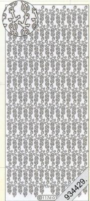 1 Stickers - 10 x 23 cm 1174 - gold, gold,  Muster - Ränder,  Art - Stickers,  Jahreszeit - Everyday,  Rand,  Anker
