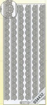 Stickers Bordüren / Linien - silber, silber,  Muster - Ränder,  Art - Stickers,  Jahreszeit - Everyday,  Rand