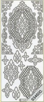 Stickers / Aufkleber, gold,  Art - Stickers,  Jahreszeit - Everyday,  Ornamente
