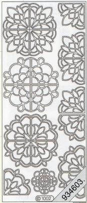Stickers / Starform, silber,  Art - Stickers,  Jahreszeit - Everyday,  Ornamente