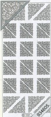 Stickers 1021 - Ecken - gold, gold,  Art - Stickers,  1021 - Ecken