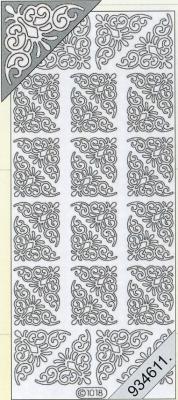 Stickers Ecken - schwarz, schwarz,  Muster - Ecken,  Art - Stickers,  Jahreszeit - Everyday,  Ecken