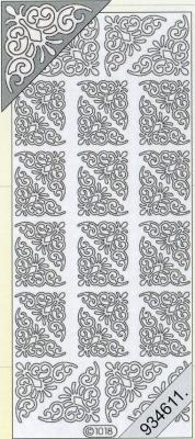1 Stickers - 10 x 23 cm 1018 - Ecken - gold, gold,  Art - Stickers,  Jahreszeit - Everyday,  1018 - Ecken
