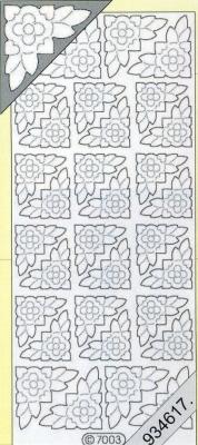 Stickers Ecken - bronze