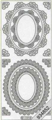 Stickers Ornamente - silber, silber,  Art - Stickers,  Jahreszeit - Everyday,  Ornamente