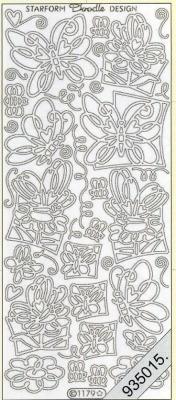 Stickers Motive / Figuren - silber, silber,  Art - Stickers