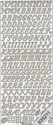 Stickers Buchstaben - weiß, weiß,  Art - Stickers