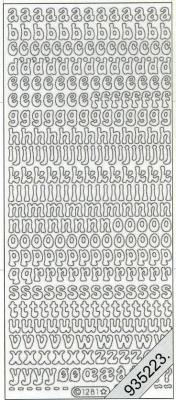 Stickers Buchstaben - silber