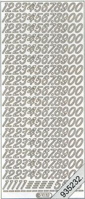 Stickers Zahlen - bronze
