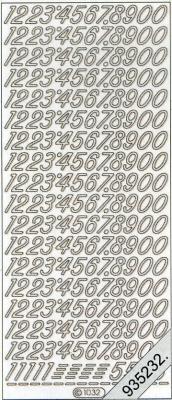 Stickers Zahlen - schwarz, schwarz,  Art - Stickers