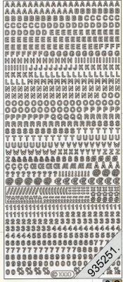 Stickers 1000 - Buchstaben+Ziffern kl. - gold, gold,  Art - Stickers,  1000 - Buchstaben+Ziffern kl.