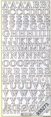 Stickers Buchstaben - gold, gold,  Art - Stickers