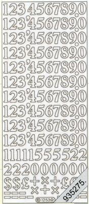 Stickers Zahlen - gold, gold,  Art - Stickers