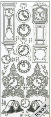 Stickers Uhren bronze - bronze