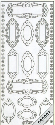 1 Stickers - 10 x 23 cm 1042 - Namensschild - gold, gold,  Art - Stickers,  1042 - Namensschild,  Türschild,  Klingelschild