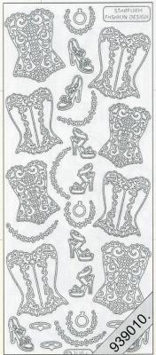 1 Stickers - 10 x 23 cm  - schwarz, schwarz,  Art - Stickers