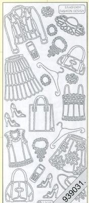 Stickers Damen-Kleidung gold - gold, gold,  gold,  Art - Stickers