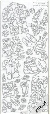 1 Stickers - 10 x 23 cm  - silber, silber,  silber,  Art - Stickers