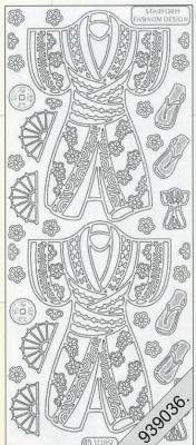 1 Stickers - 10 x 23 cm 1089 - Kimonos vorne - rot, rot,  Art - Stickers,  1089 - Kimono?s vorne