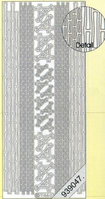 Stickers - 1166 - Ecken und Rand - gold, gold,  Art - Stickers