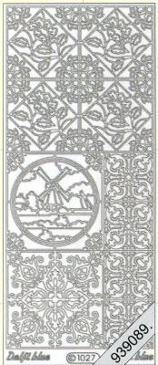 Stickers 1027 - Ziegel Mühle - rot, rot,  Art - Stickers,  1027 - Ziegel Mühle,  Ecken
