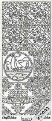 1 Stickers - 10 x 23 cm 1028 - Ziegel Segelboot - grün, grün,  Art - Stickers,  1028 - Ziegel Segelboot,  Ecken