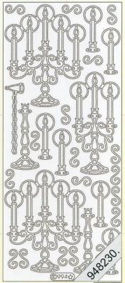 Stickers Kerzenständer weiß - weiß, weiß,  weiß,  Art - Stickers