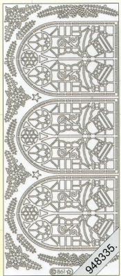 Stickers Kirchenfenster Zweig gold - gold