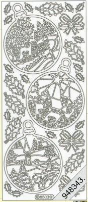 Stickers Figuren / Motive - Weihnachten - gold, gold,  Art - Stickers