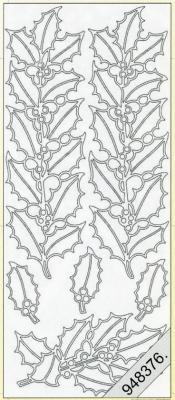 Stickers Stechpalme-Streifen silber - silber, silber,  silber,  Art - Stickers