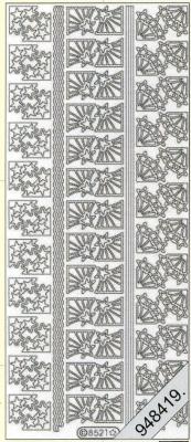 Stickers Ecken - silber, silber,  Art - Stickers